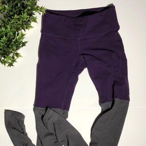 Alo goddess purple leggings
